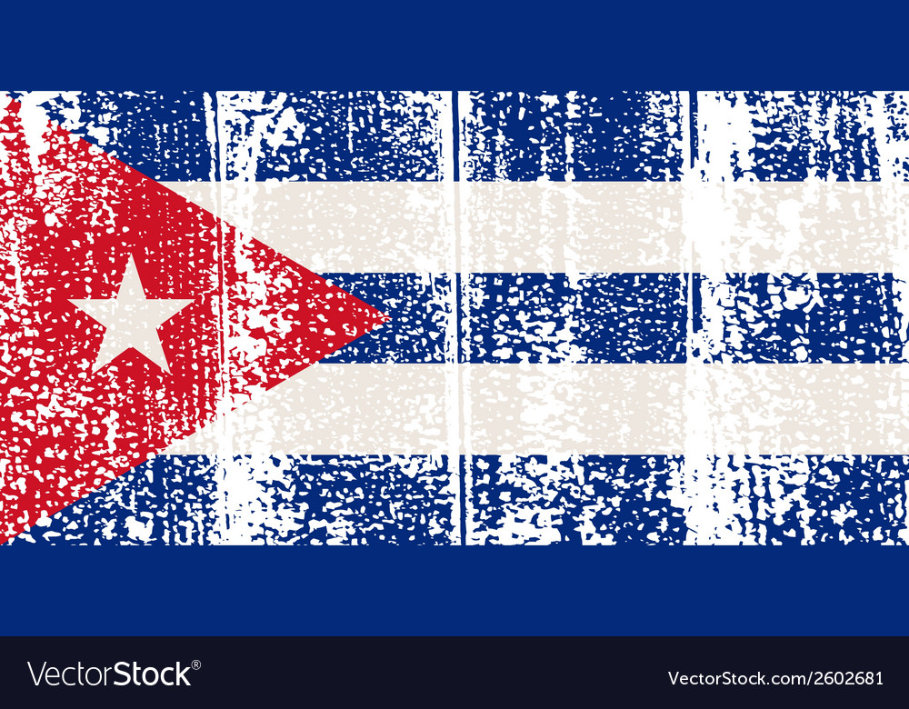 Cuban grunge flag vector | Price: 1 Credit (USD $1)