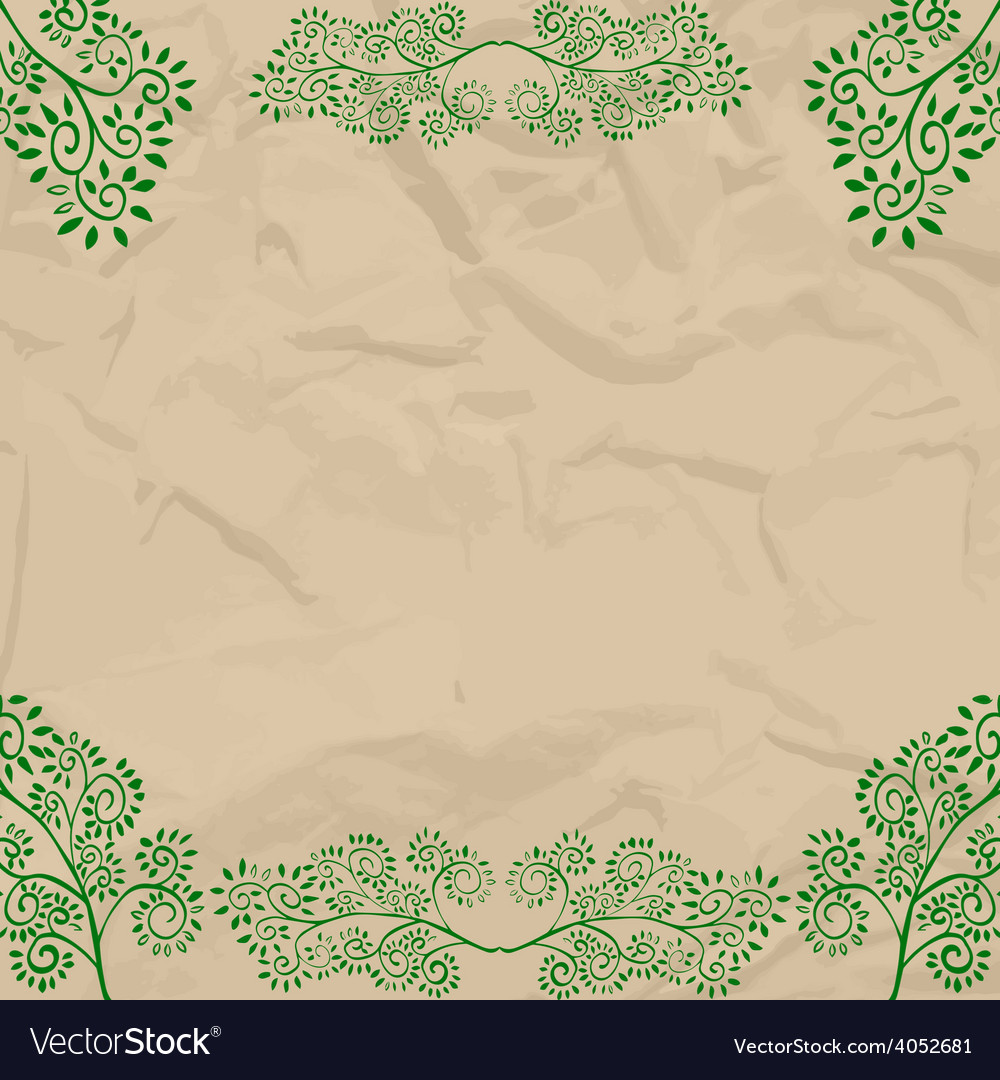 Eco beige wrapping design vector | Price: 1 Credit (USD $1)