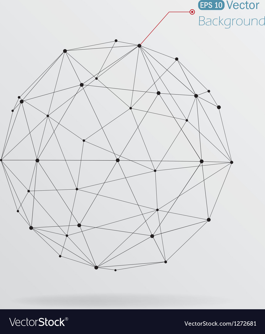 Geometrical background with black lines vector   Price: 1 Credit (USD $1)