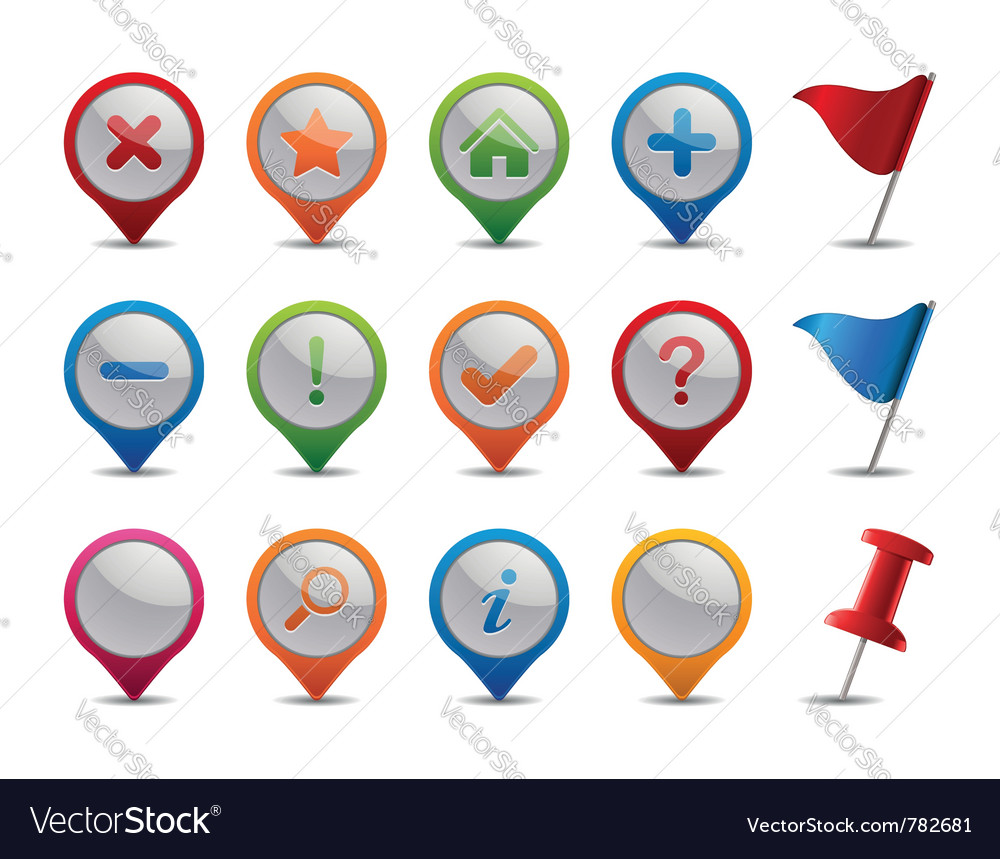 Gps icons vector | Price: 3 Credit (USD $3)