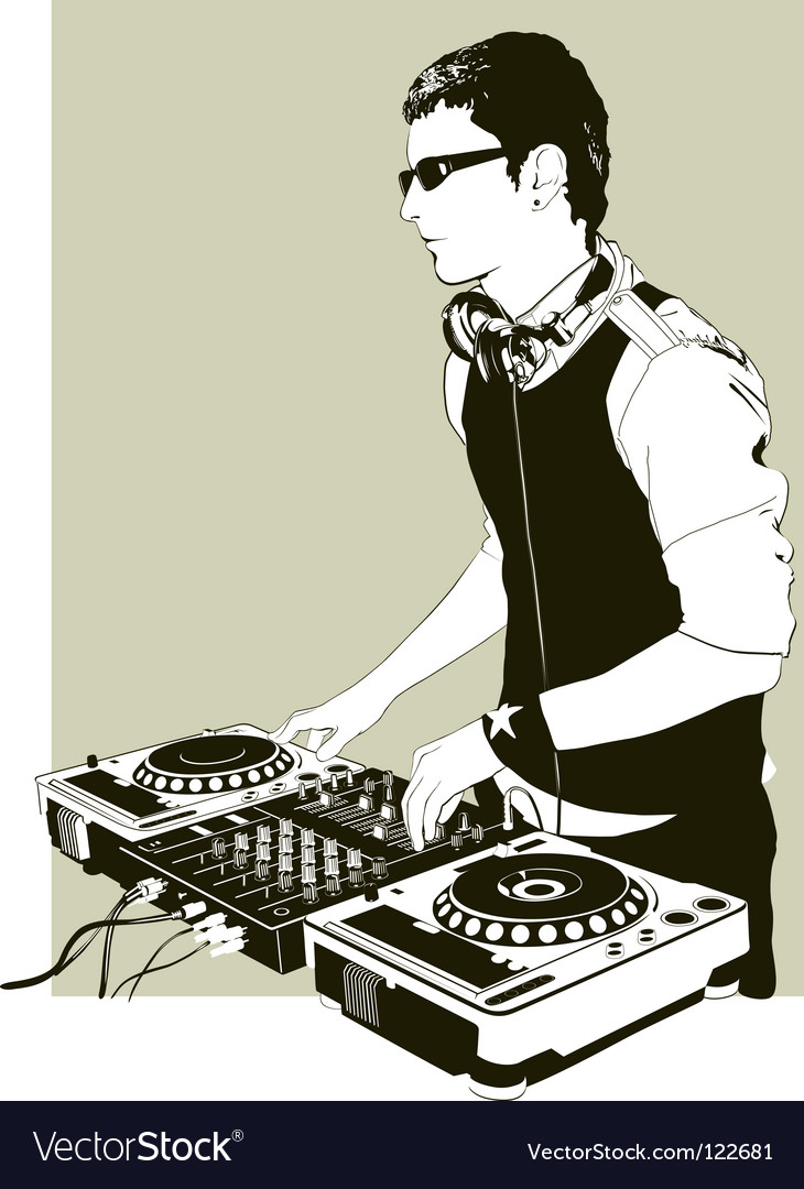 Modern dj vector | Price: 1 Credit (USD $1)