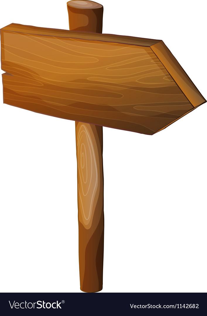 A blank wooden arrow signboard vector   Price: 1 Credit (USD $1)