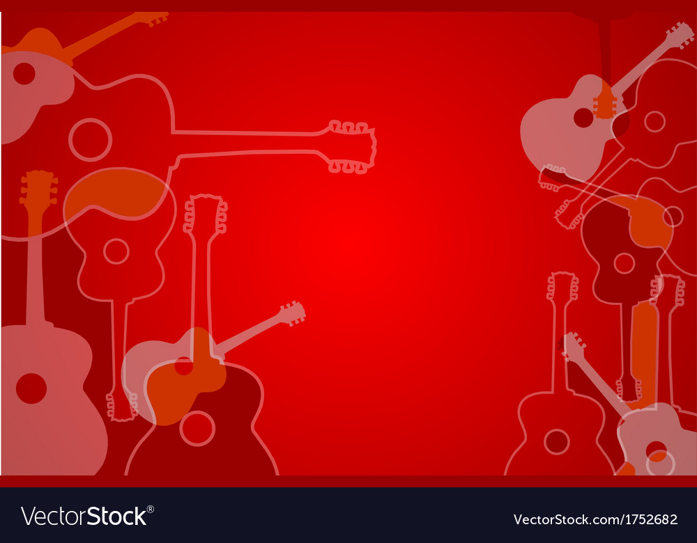 Abstract acoustic guitar background vector | Price: 1 Credit (USD $1)