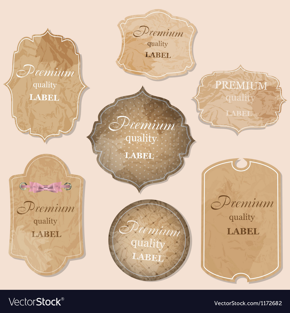 Aged paper labels vector | Price: 1 Credit (USD $1)