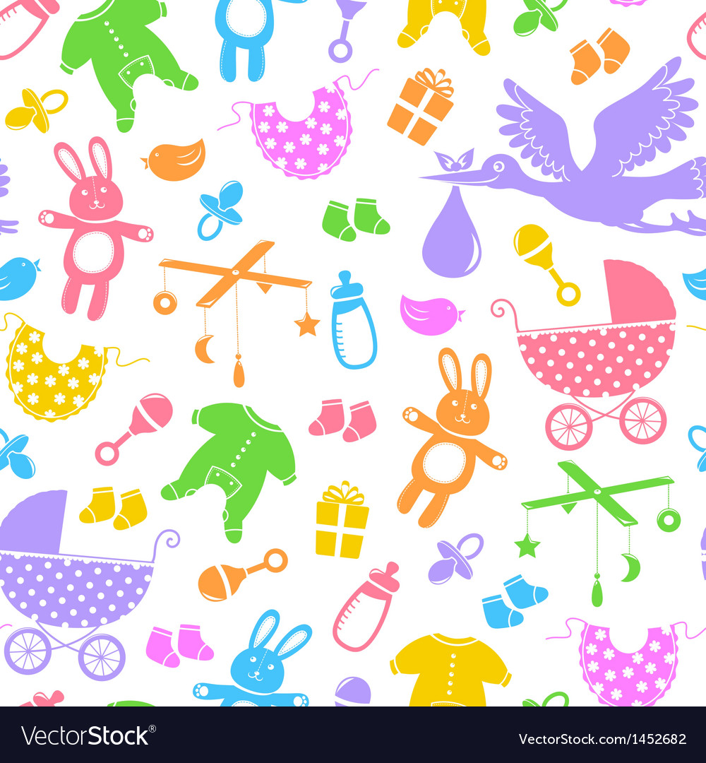 Baby items pattern vector | Price: 1 Credit (USD $1)
