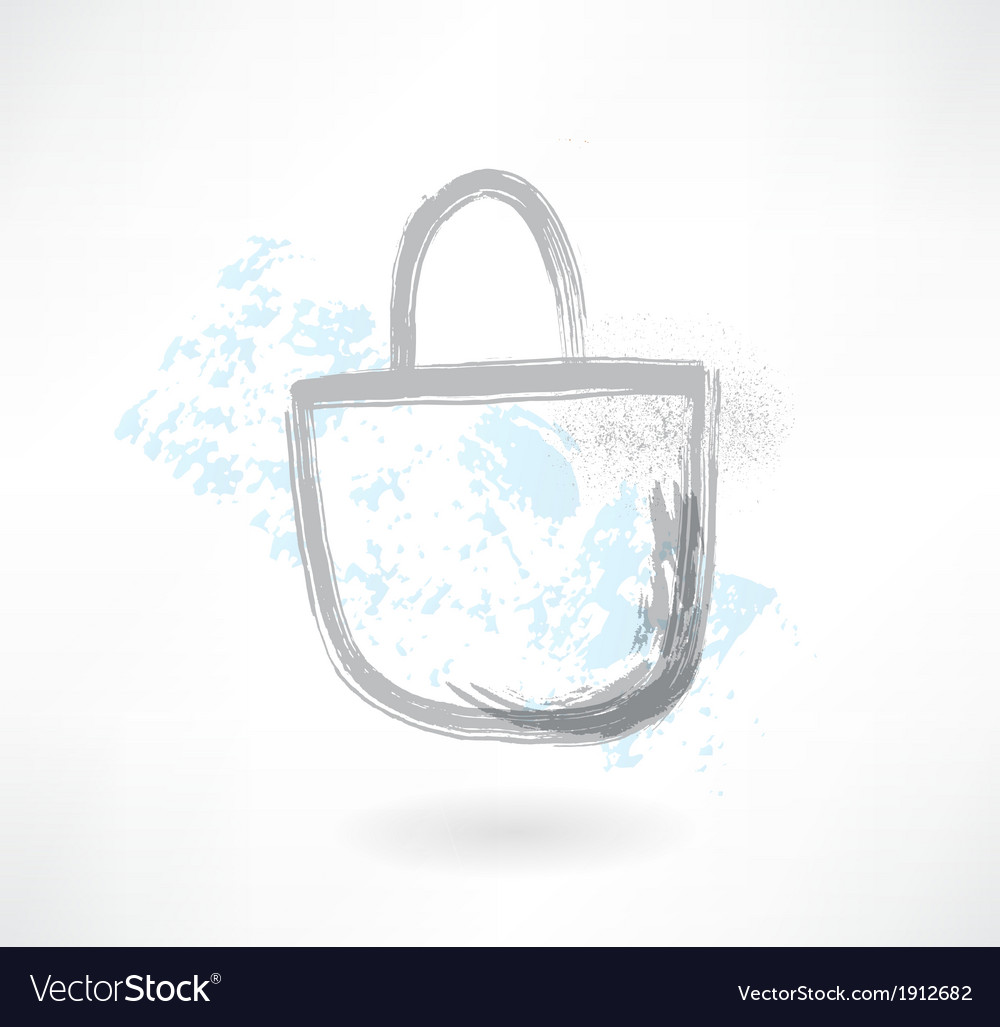 Bag grunge icon vector | Price: 1 Credit (USD $1)