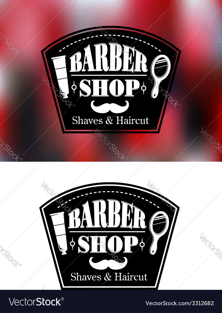 Barber shop signs vector | Price: 1 Credit (USD $1)