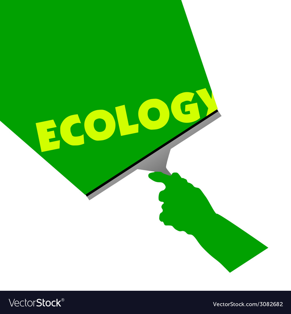 Cleaning for ecology vector | Price: 1 Credit (USD $1)
