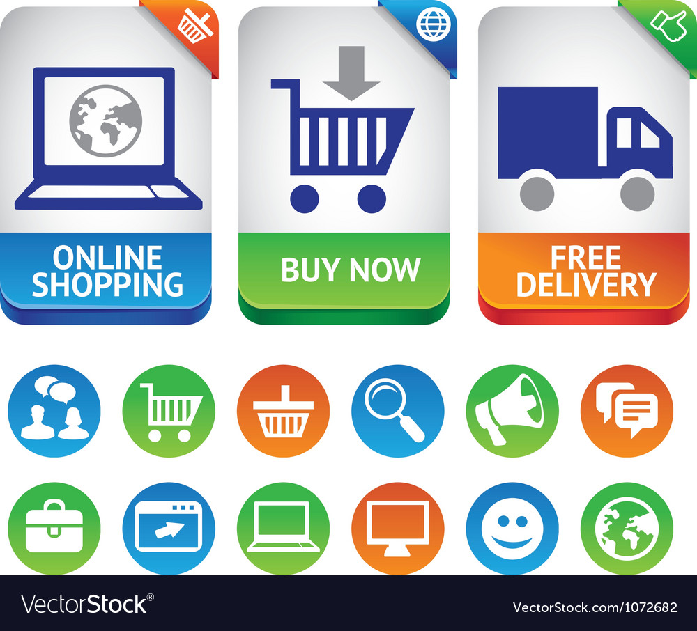 Design elements for internet shopping vector | Price: 1 Credit (USD $1)