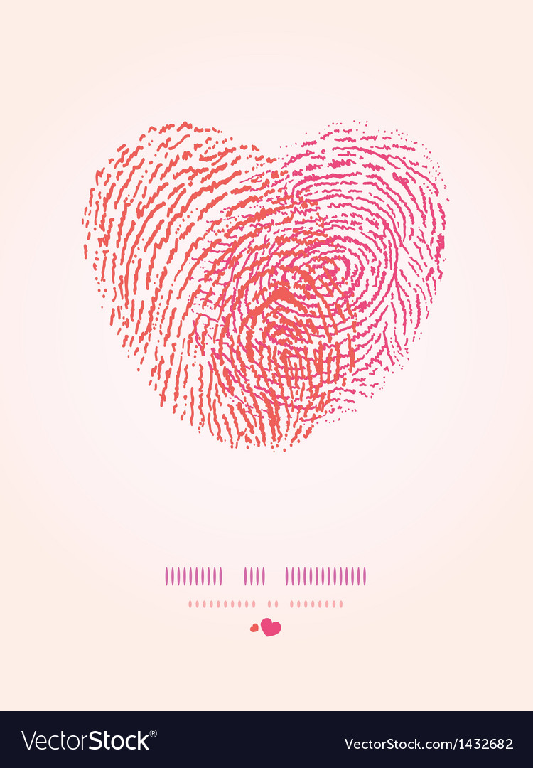 Fingerprint heart romantic background vector | Price: 1 Credit (USD $1)