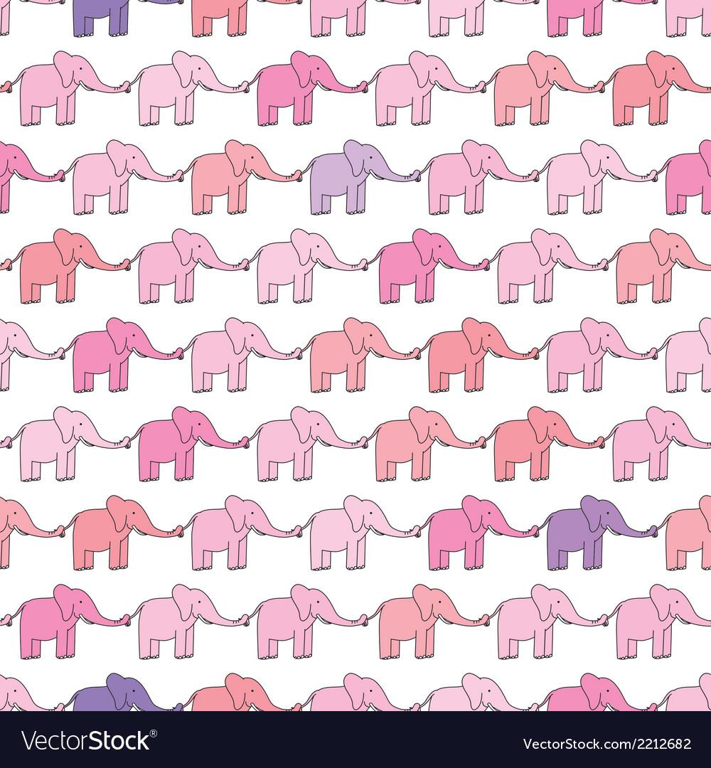 Happy elephants vector | Price: 1 Credit (USD $1)