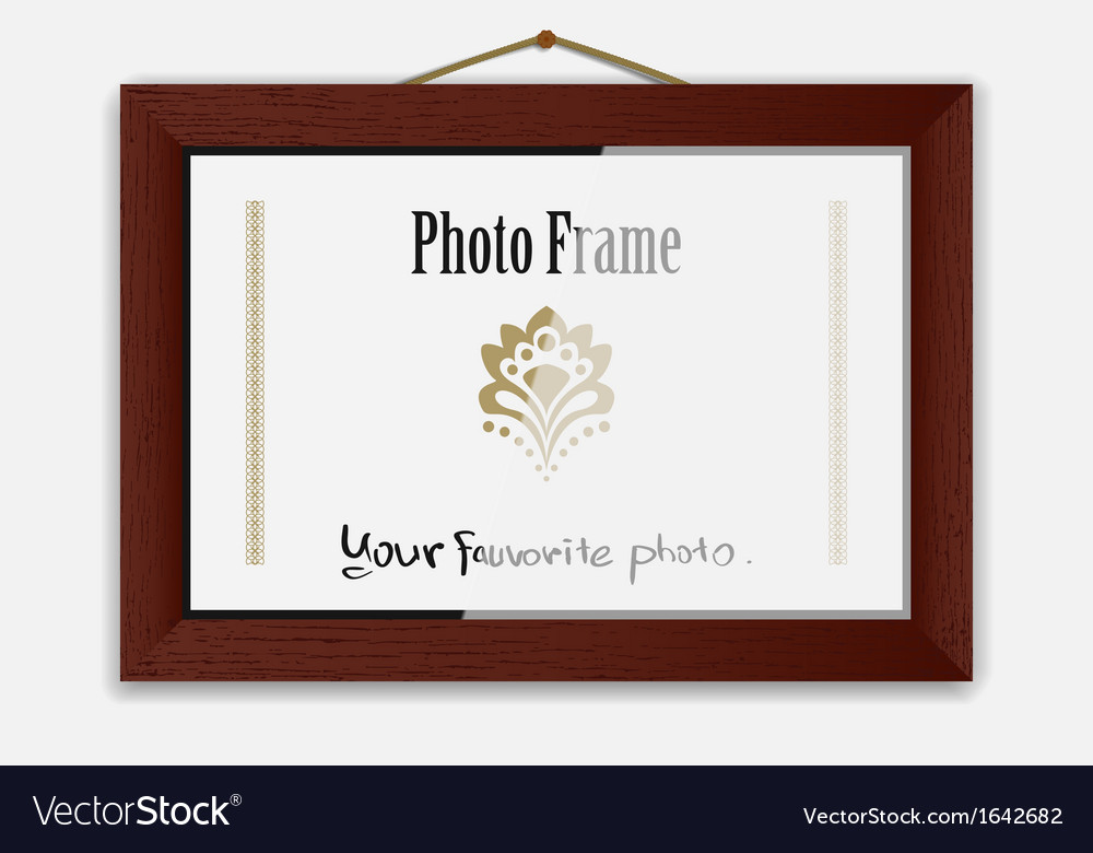 Photoframe on nail vector | Price: 1 Credit (USD $1)