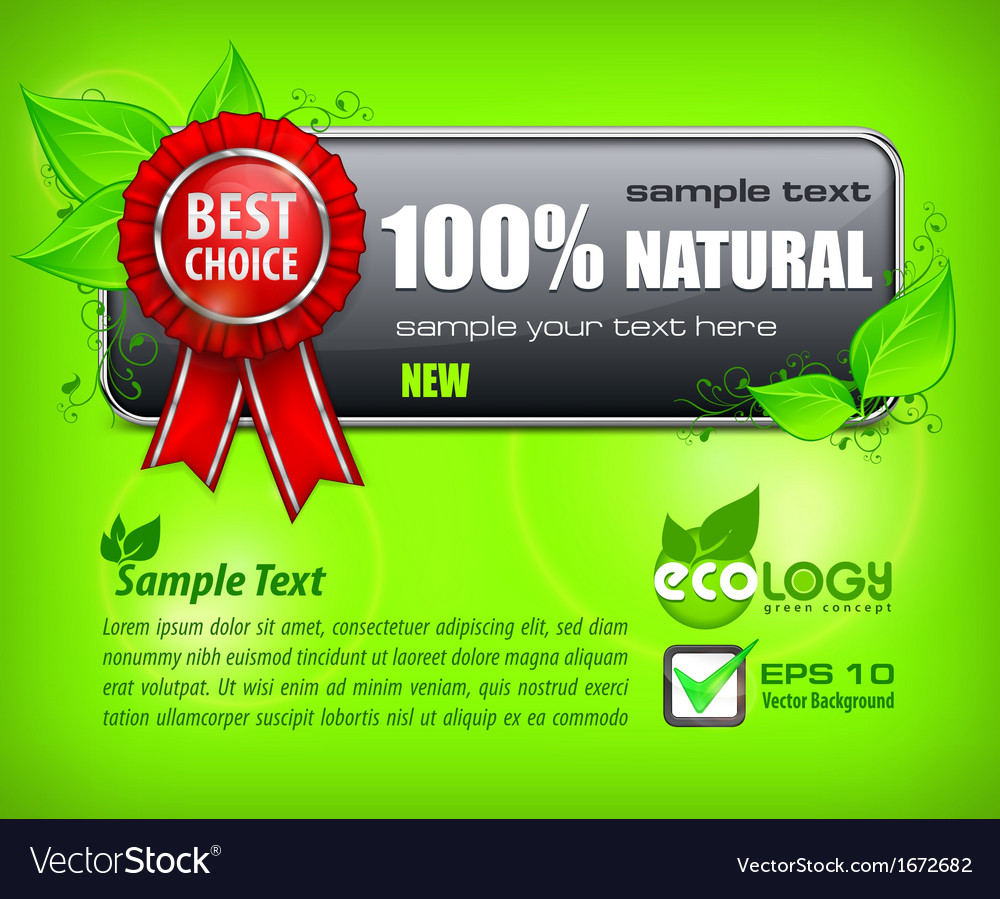 Red award banner on green vector | Price: 1 Credit (USD $1)