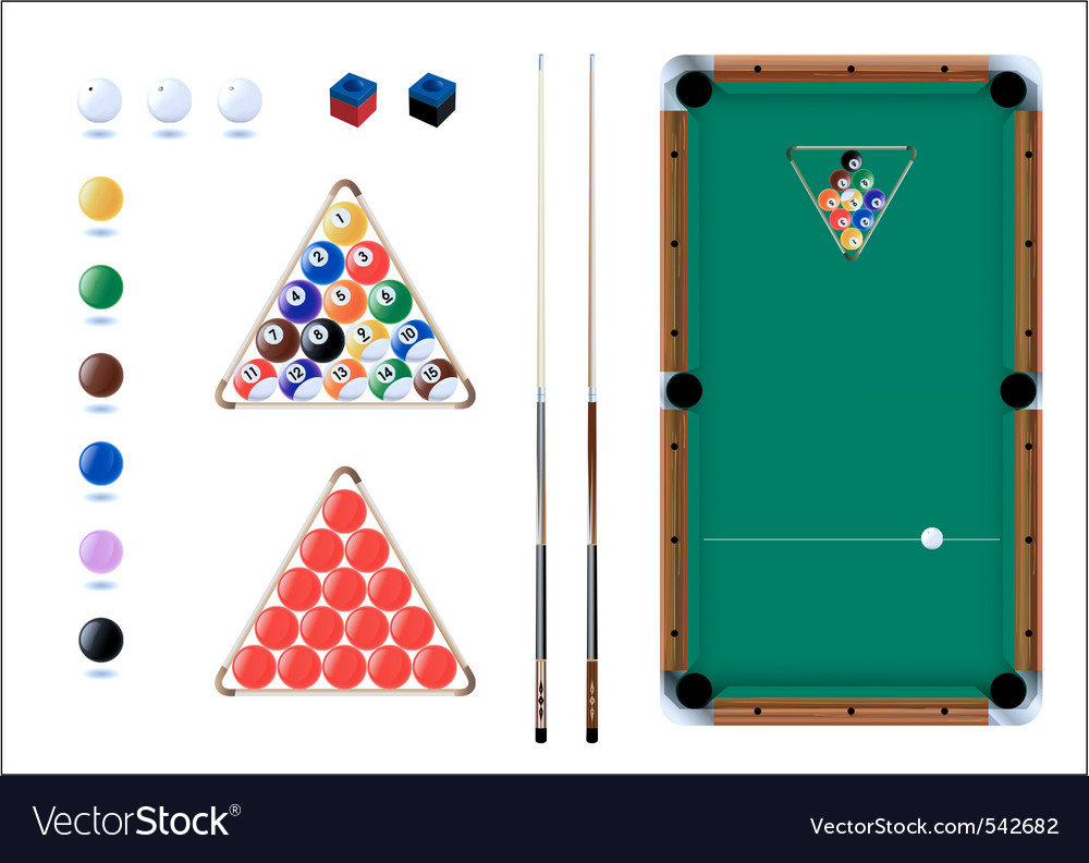 Snooker pool sport icons vector | Price: 1 Credit (USD $1)
