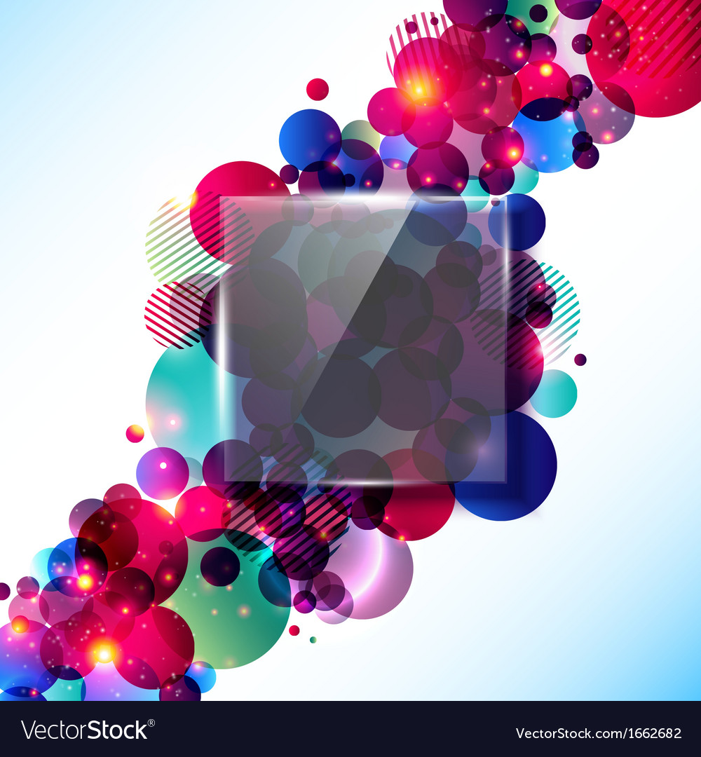 Stylish and glossy contrast background with glass vector | Price: 1 Credit (USD $1)