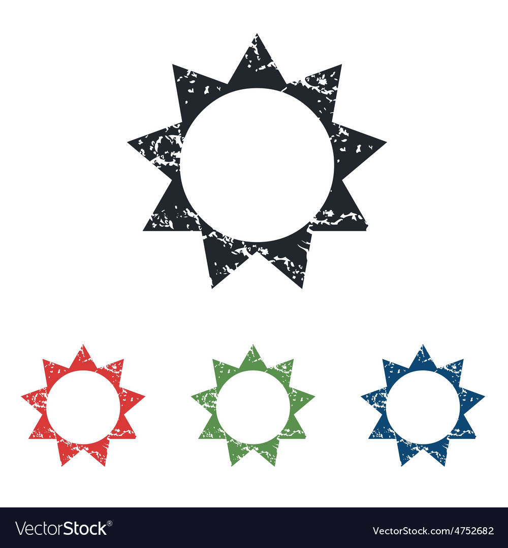 Sun grunge icon set vector | Price: 1 Credit (USD $1)