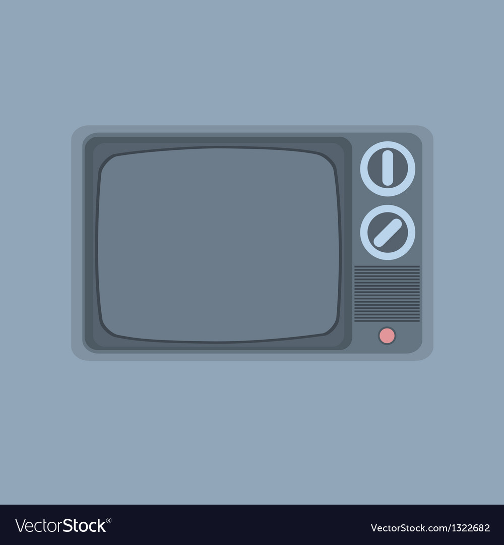 Vintage tv minimalism style vector | Price: 1 Credit (USD $1)