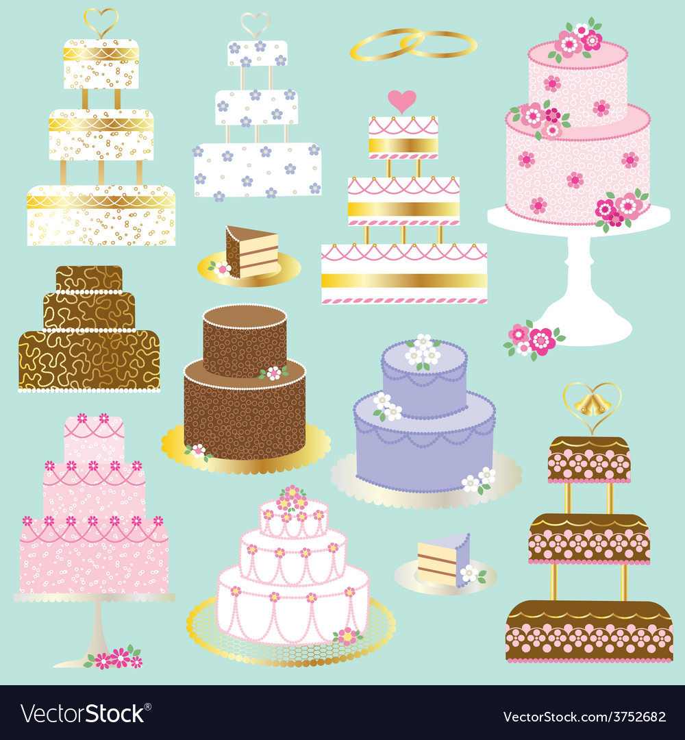 Wedding cakes vector | Price: 1 Credit (USD $1)
