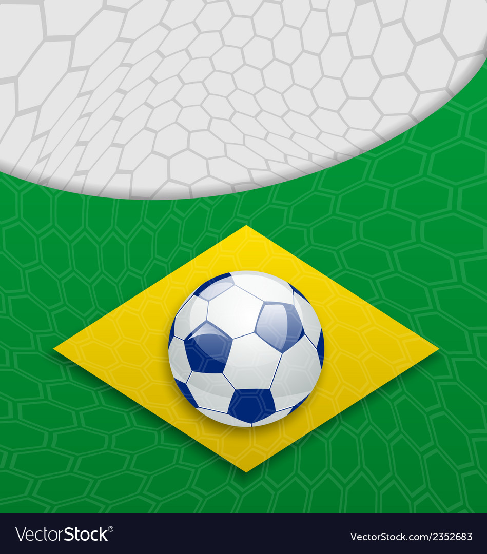 Abstract brazilian background with ball vector | Price: 1 Credit (USD $1)