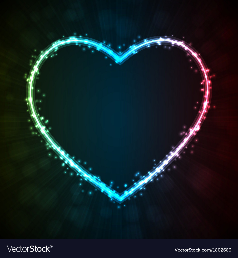Background with glowing heart-shape vector | Price: 1 Credit (USD $1)