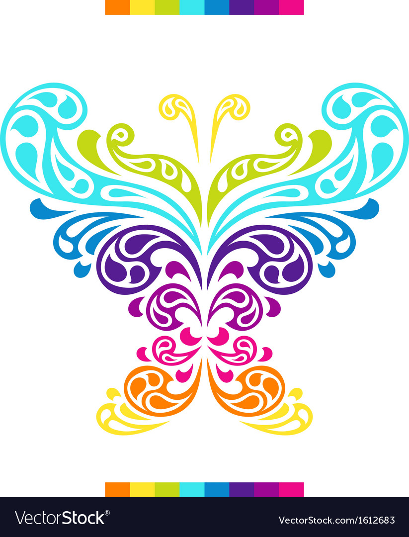 Butterfly in shape of abstract splashes drops vector | Price: 1 Credit (USD $1)