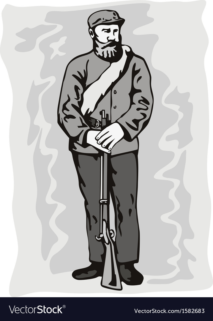 Civil war soldier vector | Price: 1 Credit (USD $1)