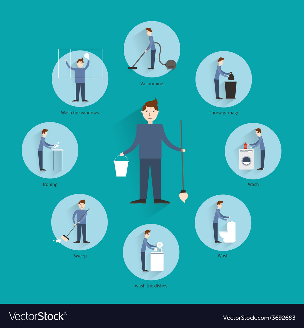 Cleaning people concept vector | Price: 1 Credit (USD $1)