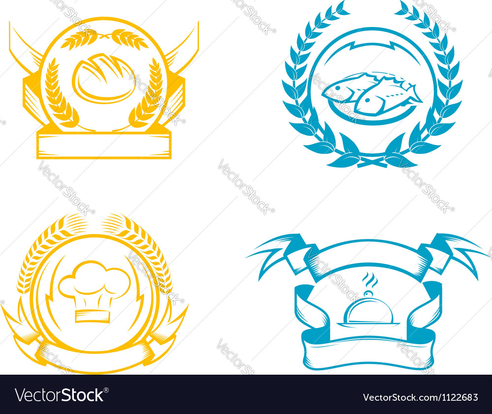 Culinary signs with ribbons vector | Price: 1 Credit (USD $1)
