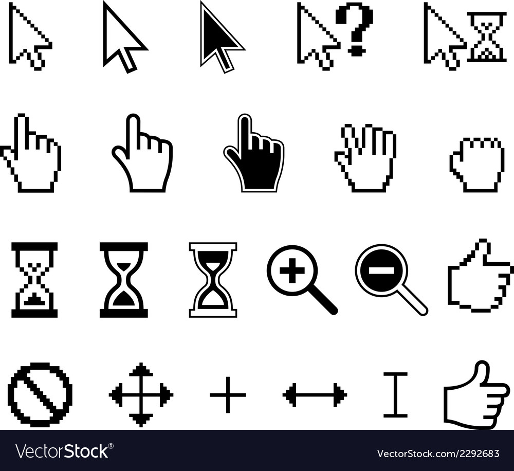 Cursors icons vector | Price: 1 Credit (USD $1)