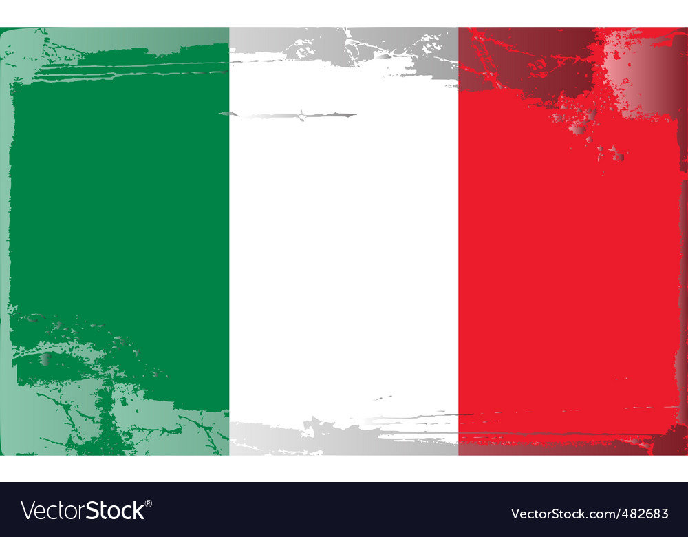 Italy national flag vector | Price: 1 Credit (USD $1)