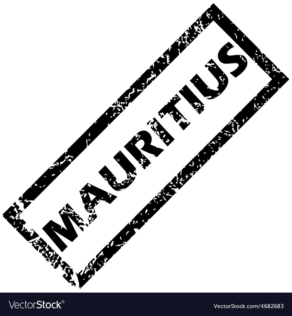 Mauritius rubber stamp vector | Price: 1 Credit (USD $1)