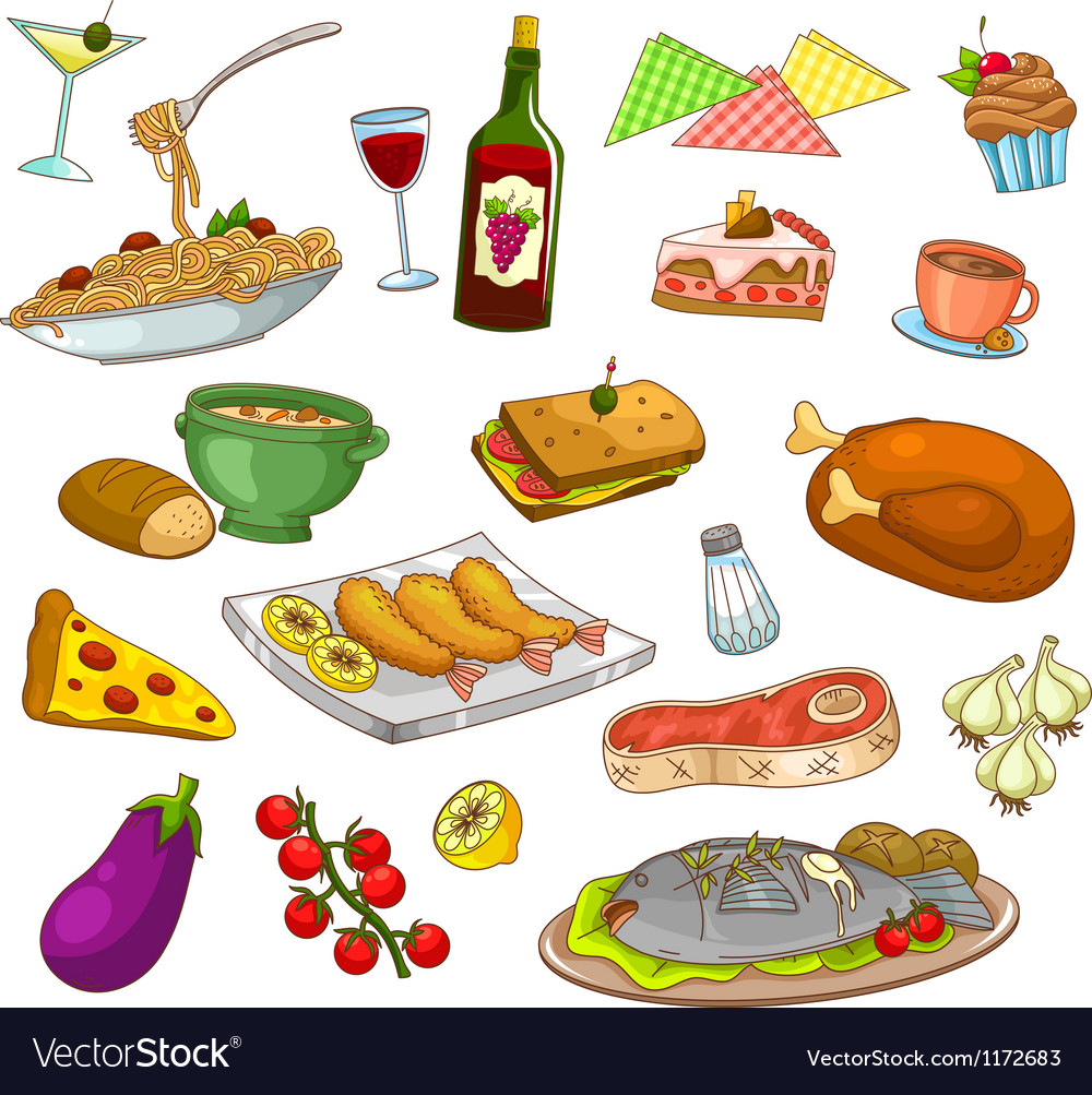 Restaurant food vector | Price: 3 Credit (USD $3)