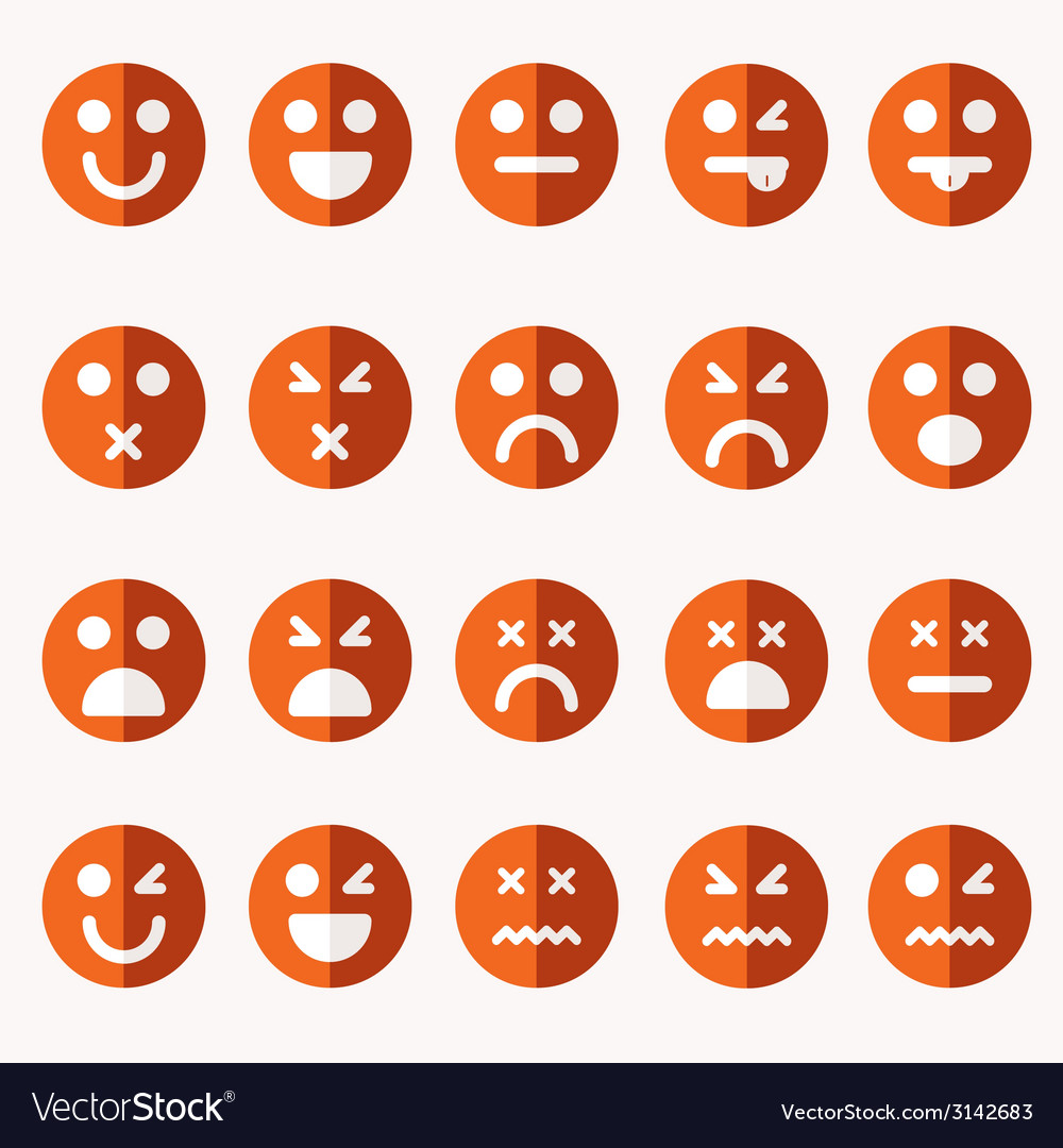 Set of different emoticons vector   Price: 1 Credit (USD $1)