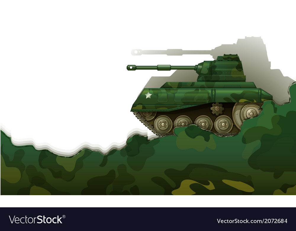 A military tank vector | Price: 1 Credit (USD $1)