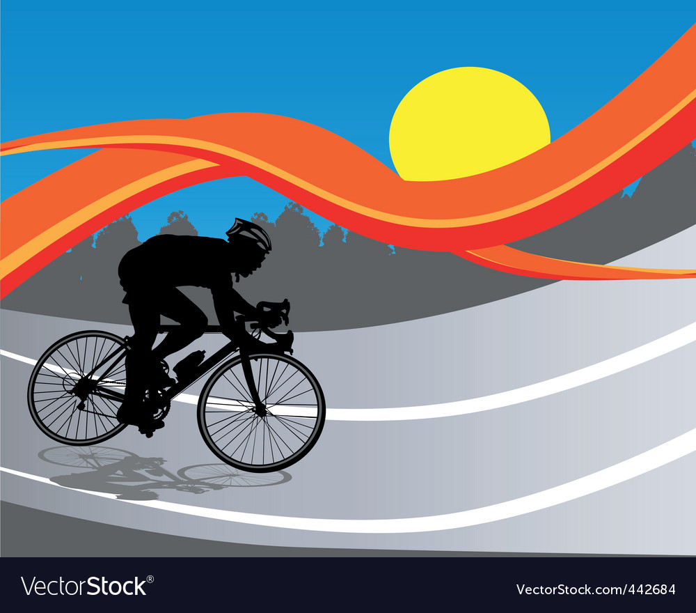 Cycling poster vector | Price: 1 Credit (USD $1)