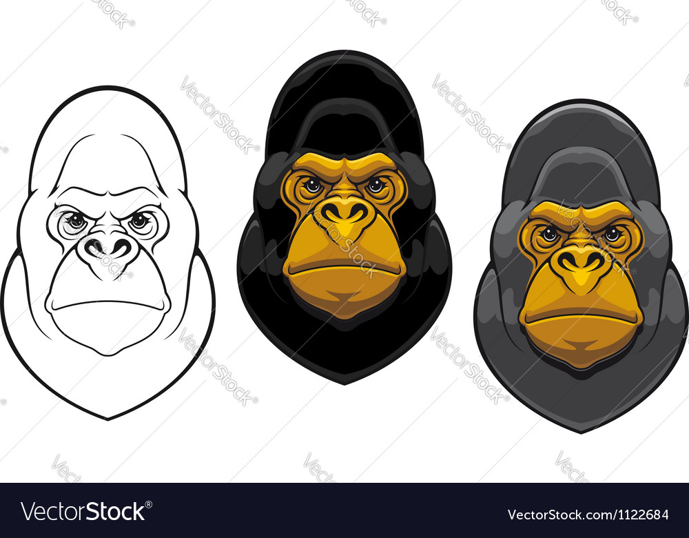 Danger gorilla monkey mascot vector | Price: 1 Credit (USD $1)