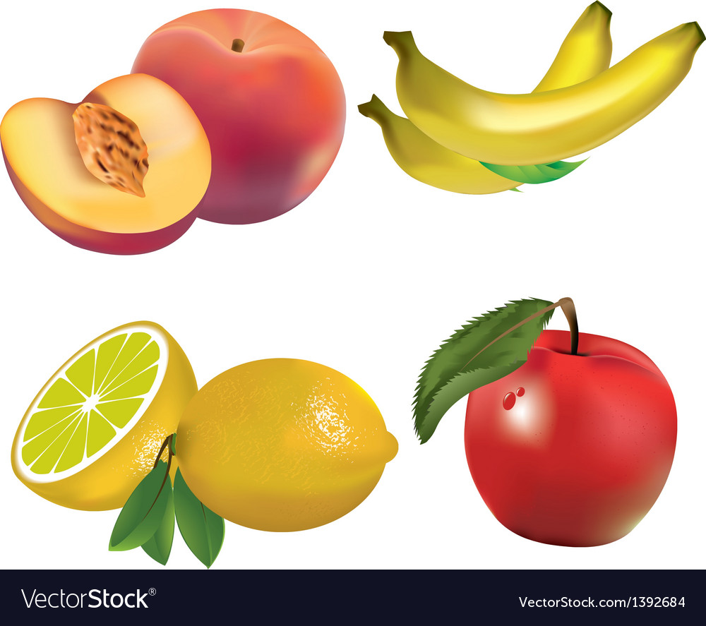 Fruits set vector | Price: 3 Credit (USD $3)