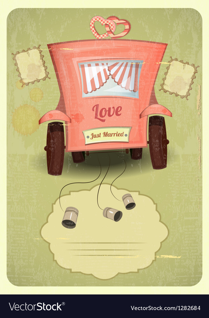 Just married vector | Price: 3 Credit (USD $3)