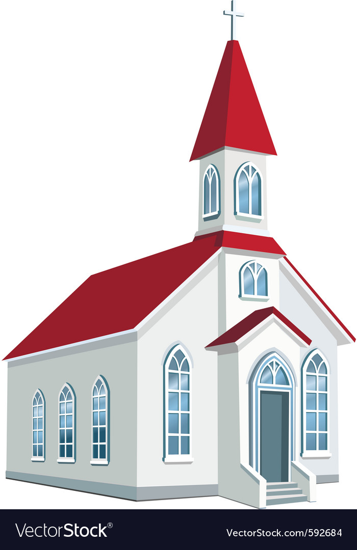 Little county christian church vector | Price: 3 Credit (USD $3)