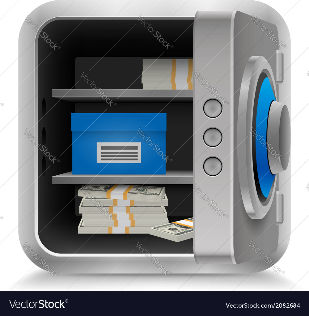 Safe full of money vector | Price: 1 Credit (USD $1)