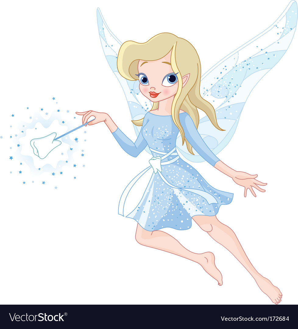 Tooth fairy with magic wand vector | Price: 3 Credit (USD $3)