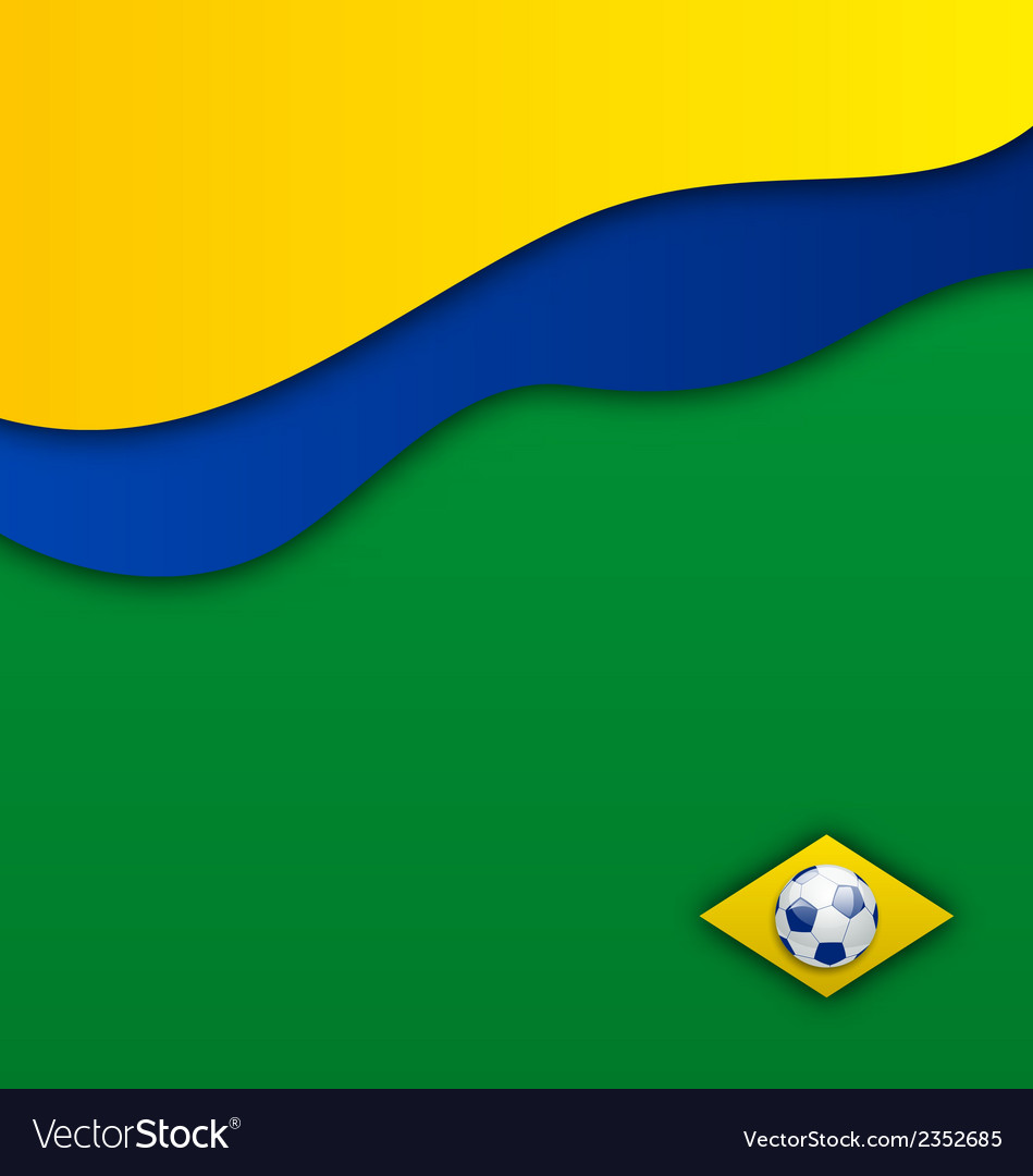 Abstract wavy background in brazil flag concept vector | Price: 1 Credit (USD $1)