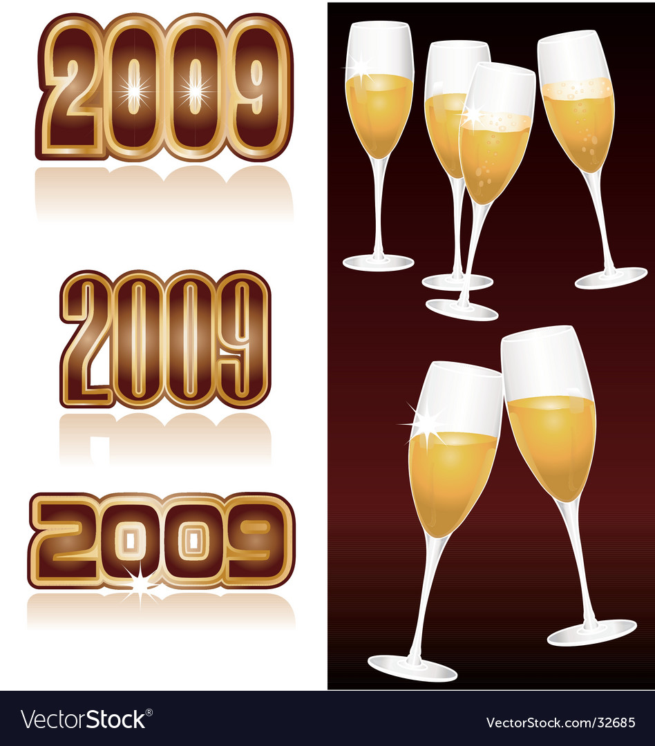 Champagne 2009 vector | Price: 1 Credit (USD $1)