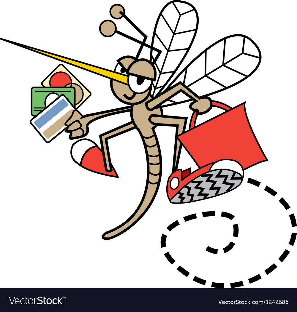 Childrens mosquito cartoon vector | Price: 1 Credit (USD $1)