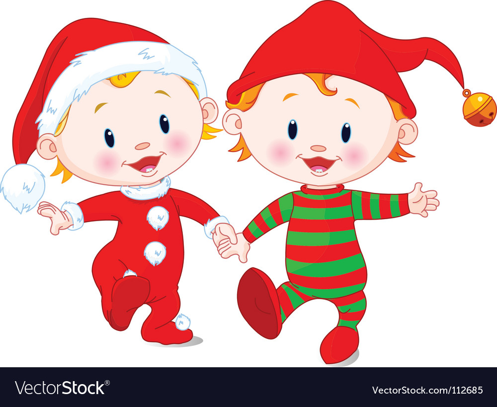 Christmas babies vector | Price: 3 Credit (USD $3)