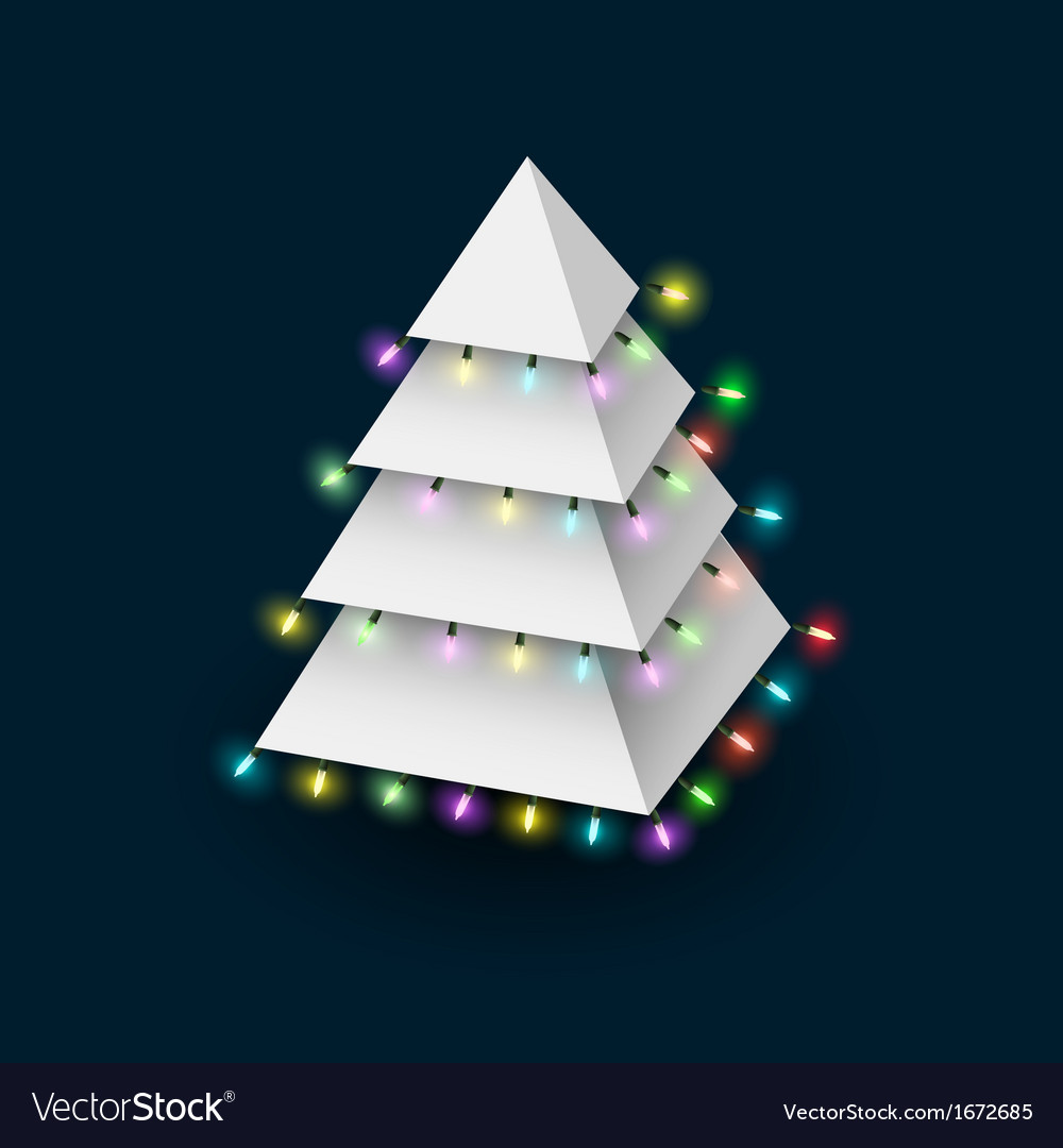 Christmas tree formed pyramide with luminous vector | Price: 1 Credit (USD $1)