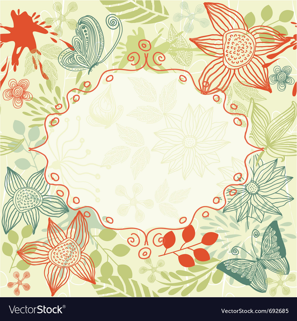 Floral pattern vector | Price: 1 Credit (USD $1)