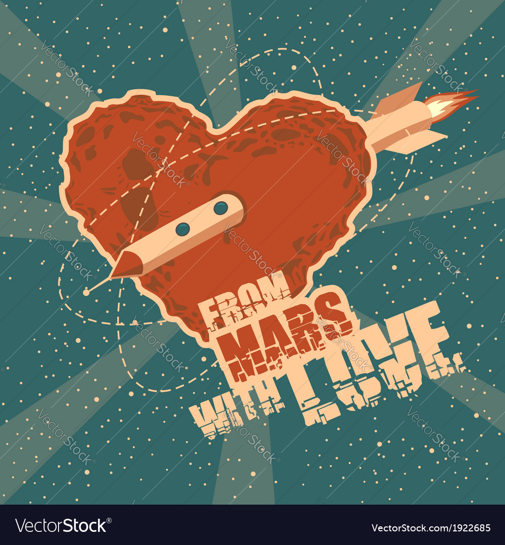 From mars with love vector | Price: 3 Credit (USD $3)