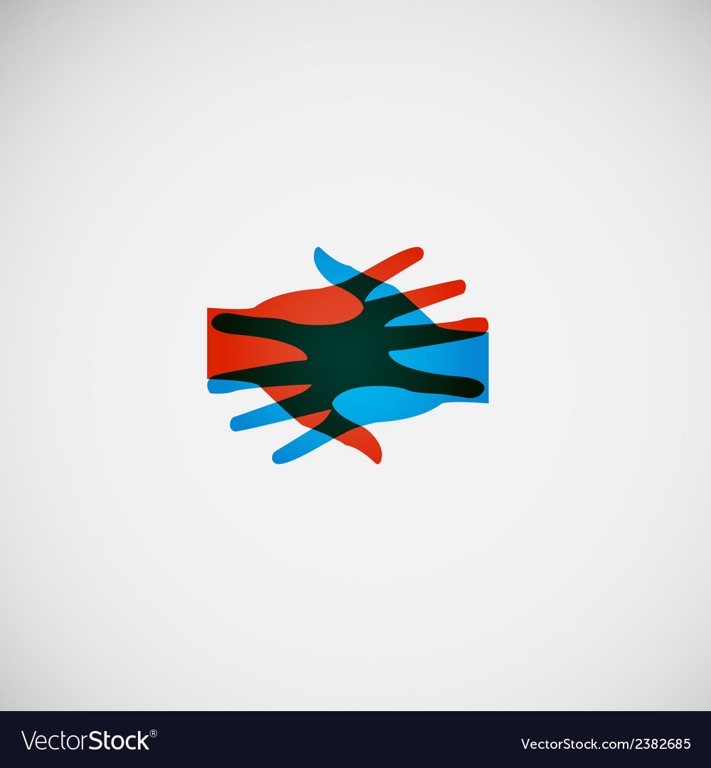 Hands color abstraction eps vector | Price: 1 Credit (USD $1)