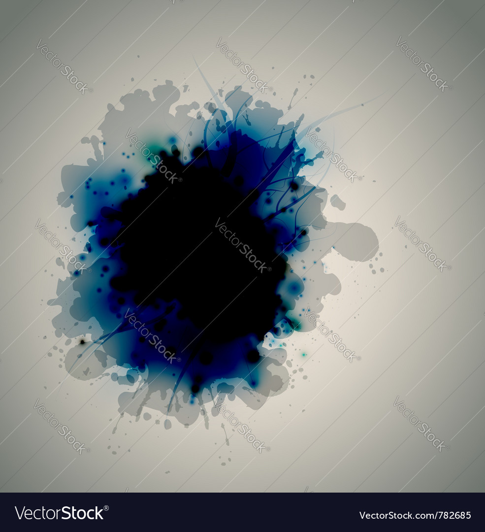 Ink on the liquid surface vector | Price: 1 Credit (USD $1)